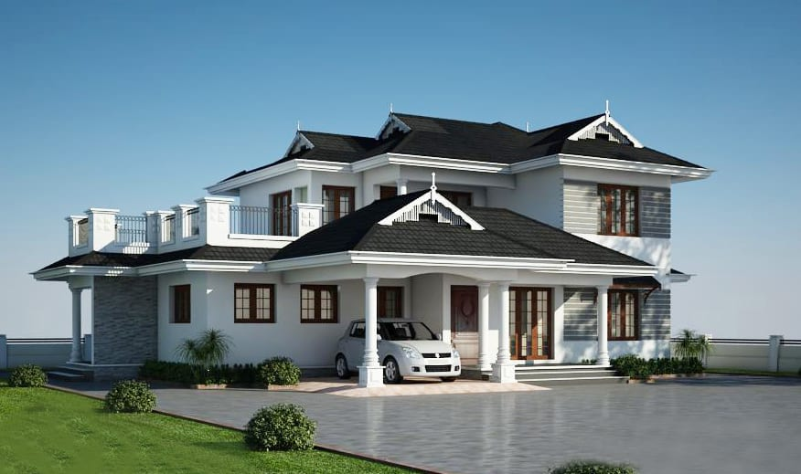 Alluring 4 bedroom villa at 2650 square feets for 4 bedroom villa plans