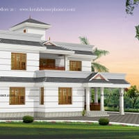 Kerala house plan at 1900 sq.ft