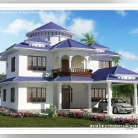 Kerala house plans at 2800 sq.ft