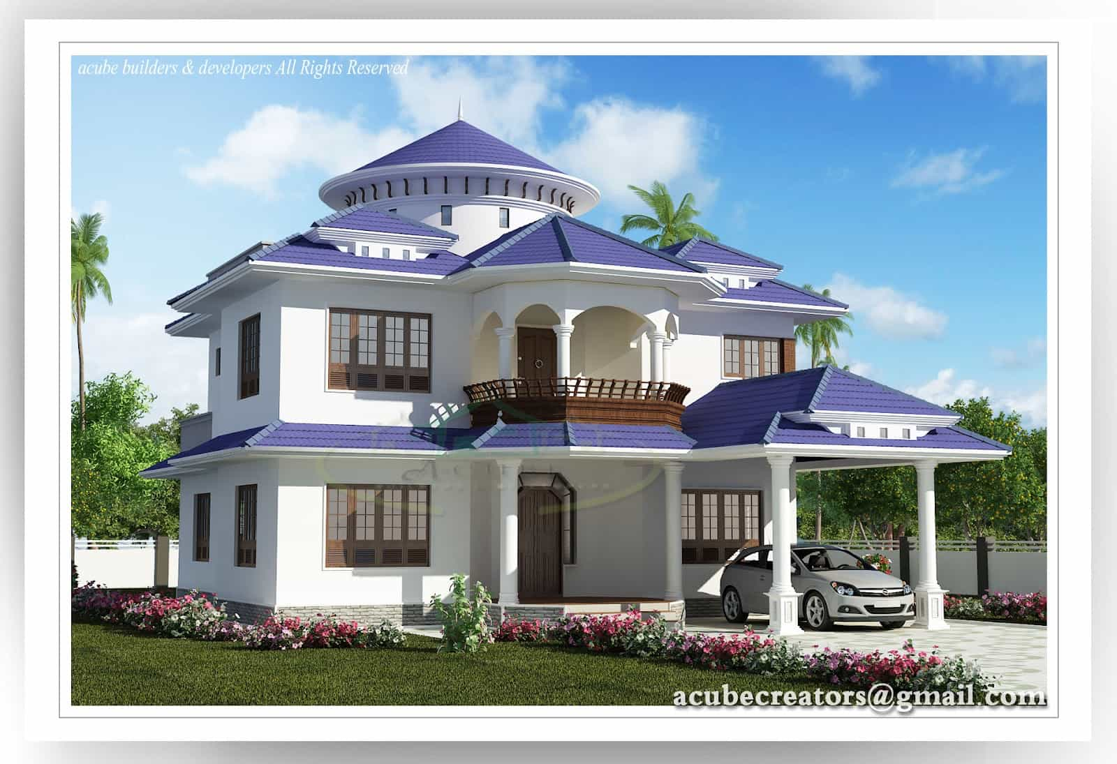 Two storey kerala house designs keralahouseplanner home for 3000 sq ft house plans kerala style