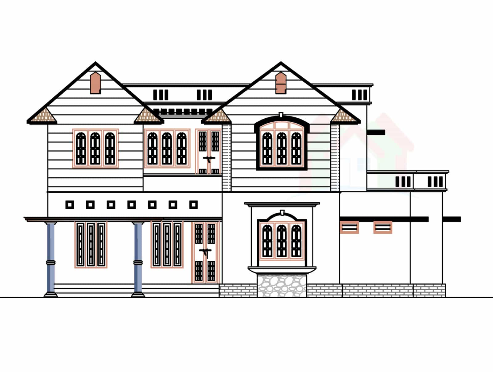 2226 house design with kerala house plans House plan view