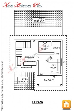 kerala house plans 1200 sq.ft ff