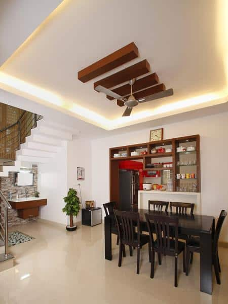 Kerala house plans with estimate for a 2900 home design for Kerala style dining room designs