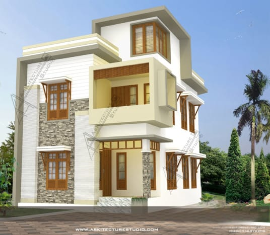 Contemporary kerala house designs at 1500 for Kerala home design 2013