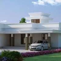 Kerala home design 2 bedroom house