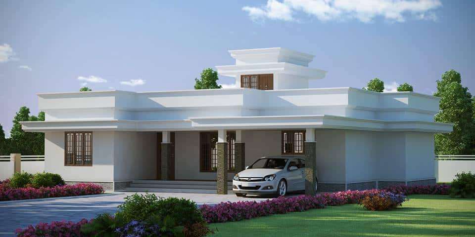 Beautiful low budget kerala house design at 1772 for Beautiful model house