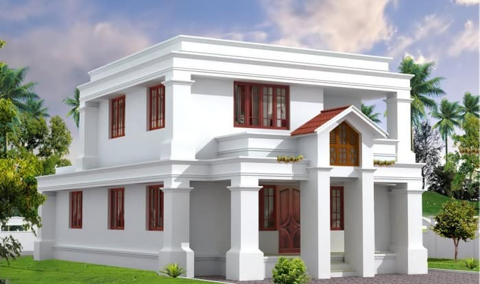 cute home design 700x415 Beautiful Flat Roof Kerala Home Design 2014
