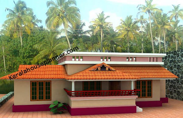 Small house plans in kerala 3 bedroom keralahouseplanner for Small villa plans in kerala