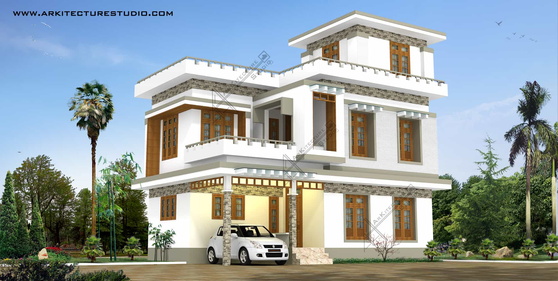 Kerala home designs 2015 5 designs photos khp for Conventional style home