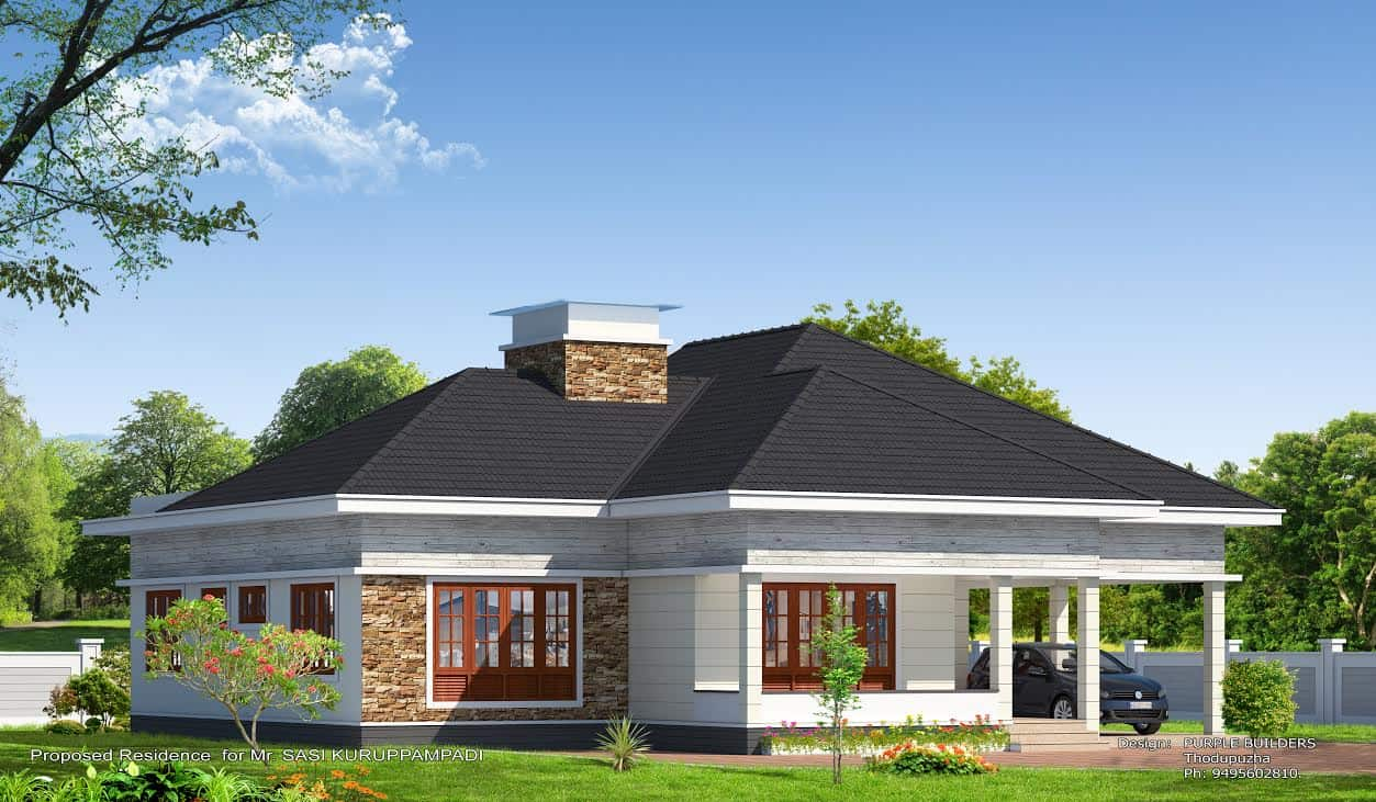 Kerala home design house plans indian budget models for Single floor house plans kerala style