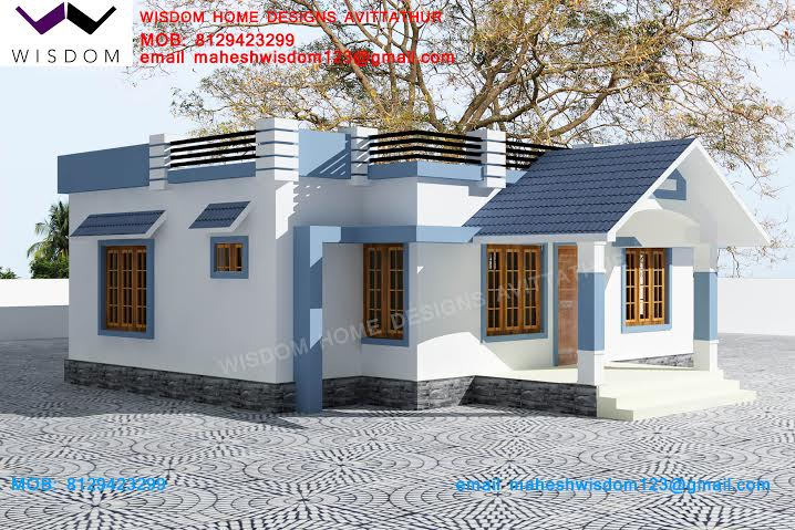 Ground Floor Elevation With Staircase : Kerala home design house plans indian budget models