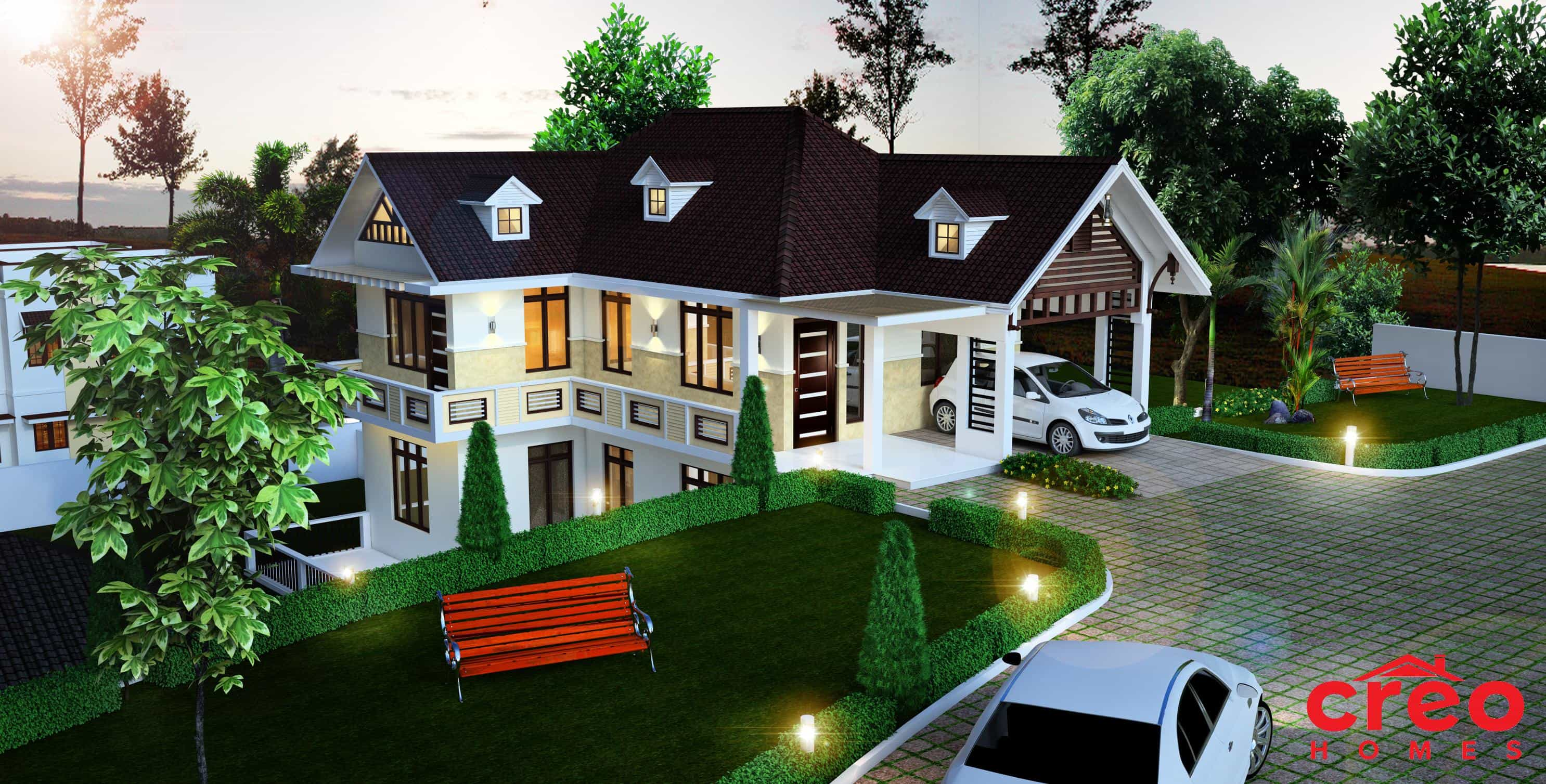 Perfect Kerala Home Design Image ft modern home design Hillside House Design In Kerala