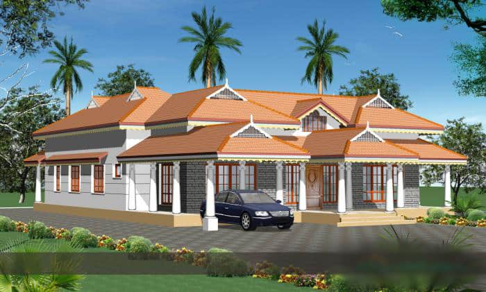 20 lakhs budget house plans in kerala for Low cost per square foot house plans