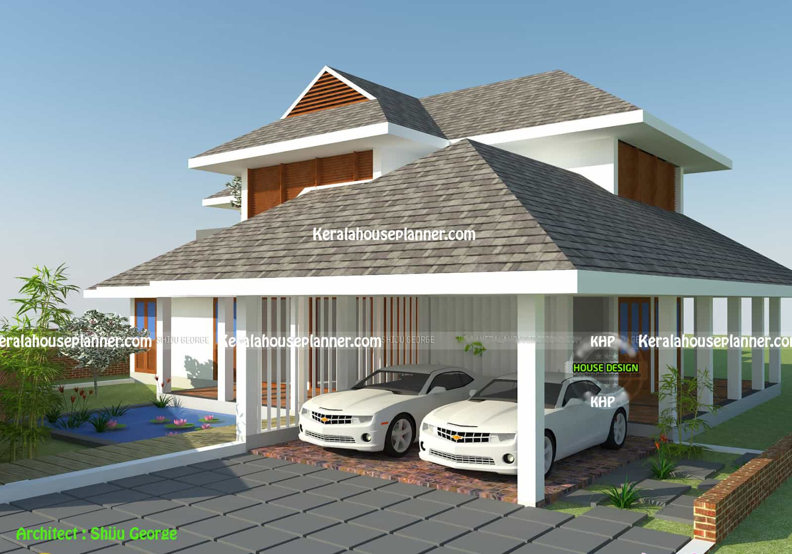 Kerala home design house plans indian budget models for Cottage style roof design
