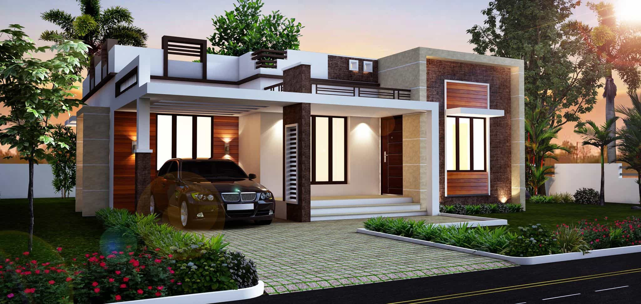 Kerala home design house plans indian budget models Compact house plans