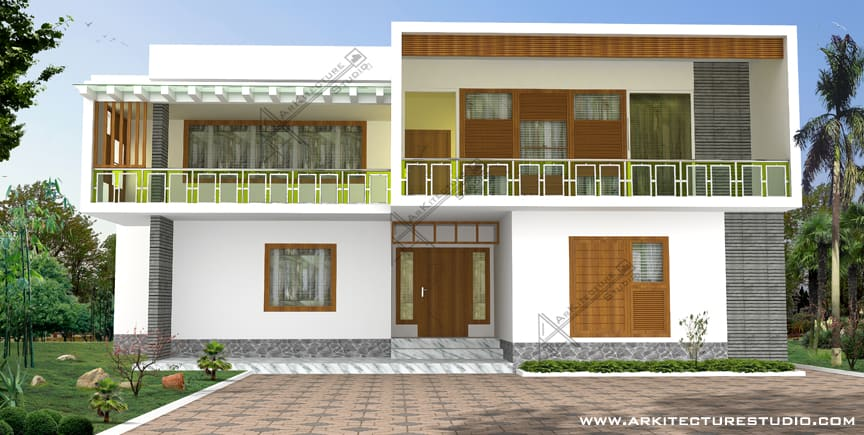 kerala style simple modern home