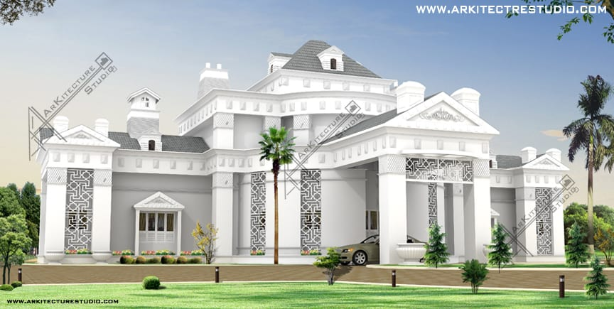 14 colonial luxury house designs in india that you will love for Luxury bungalow designs