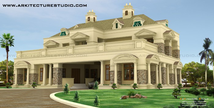 colonial style luxury design - 5500 sq.ft