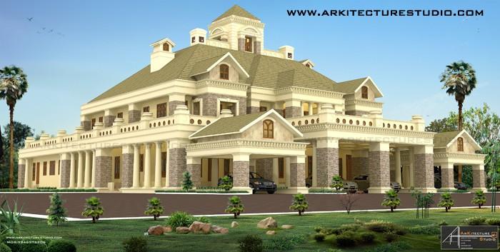 Palace Style Kerala Home