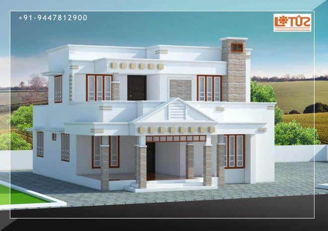 Modern house design in kerala under 30 lakhs estimate for Modern house designs and floor plans in india