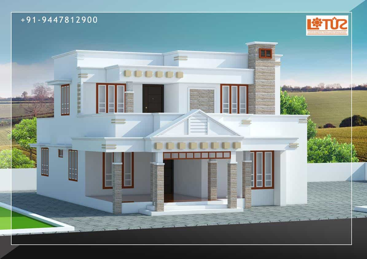 Modern House Design in Kerala Under 30 Lakhs Estimate 1910 sqft