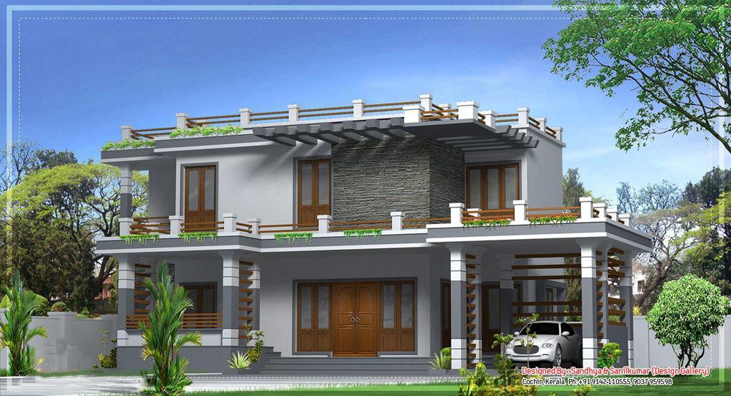modern kerala house3 - 43+ Modern Kerala Style House Plans With Photos Background