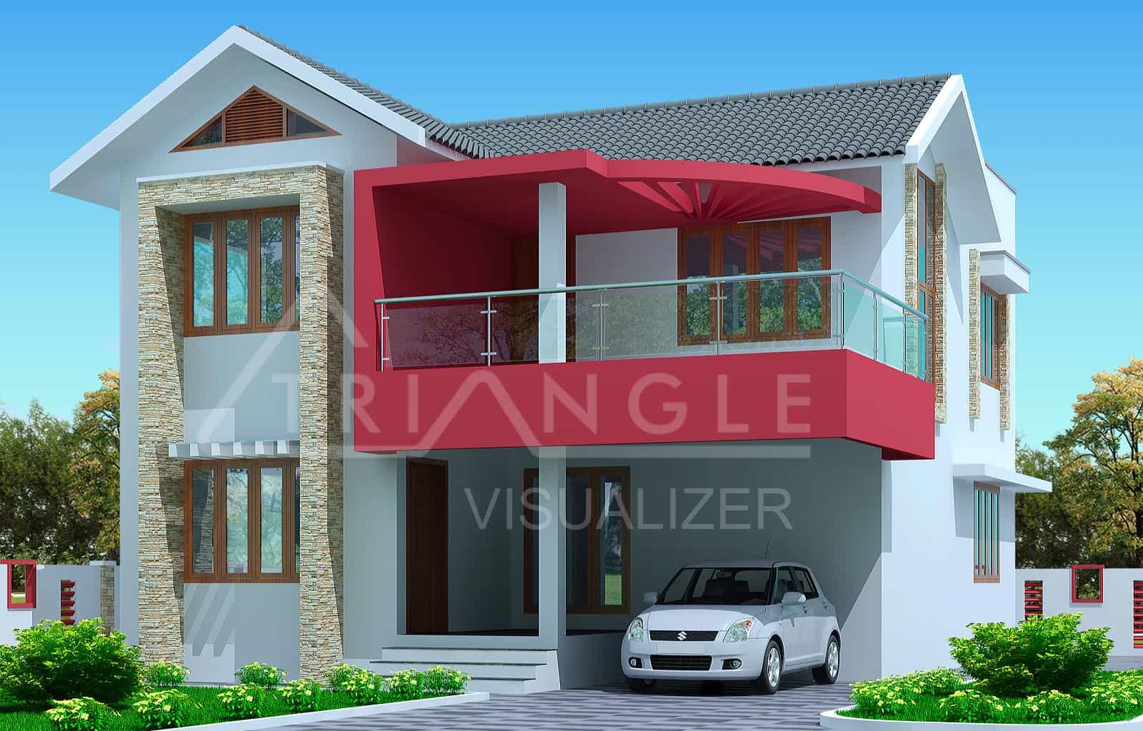 Kerala house plan- latest 3 bedroom exterior house design