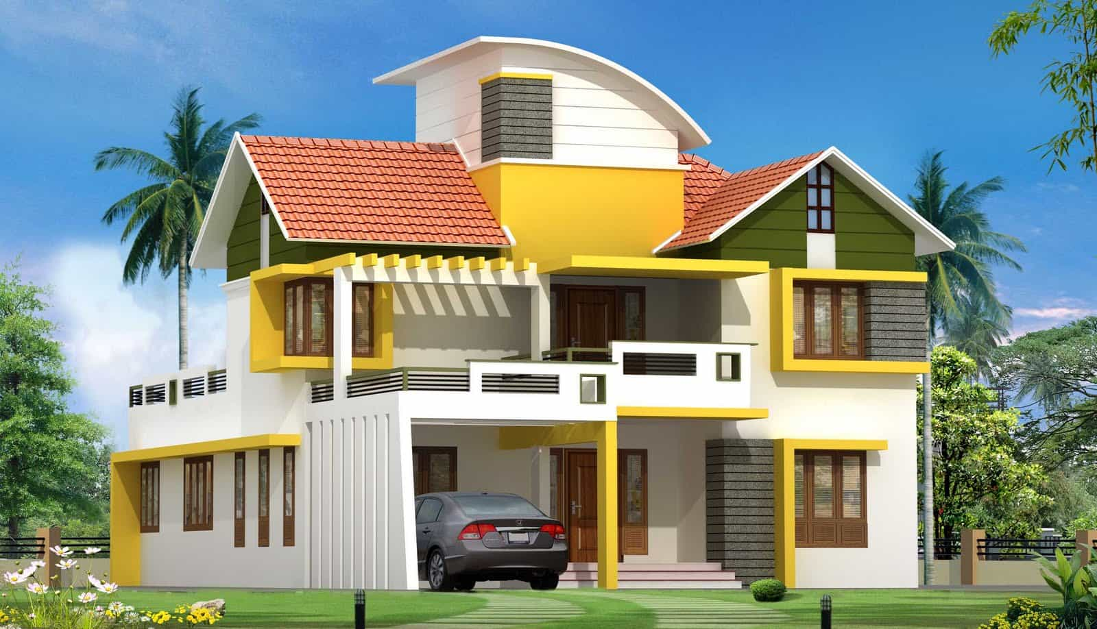 latest kerala house plan and elevation at 2563 sq ft
