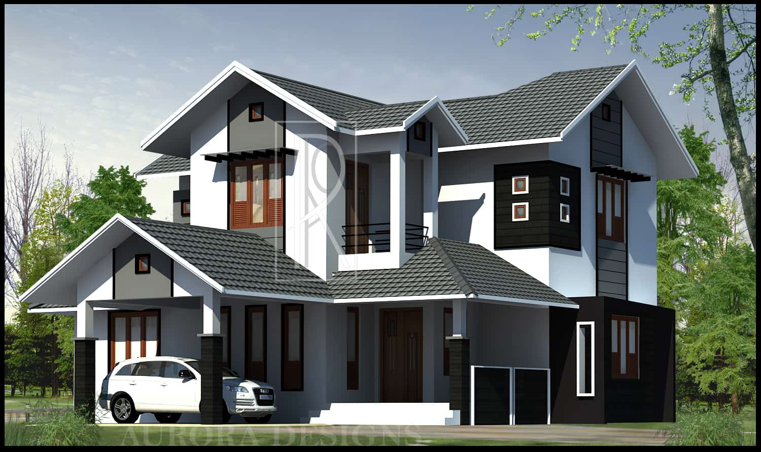 latest kerala style home design at 2169 sq ft 16216 | modern 4 bedroom kerala home