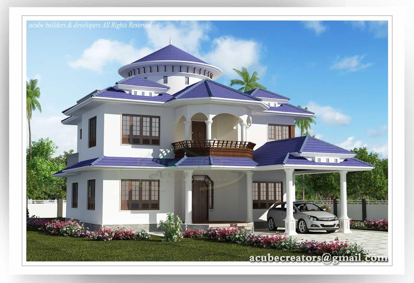 Beautiful Kerala Home At 2804 Sq Ft
