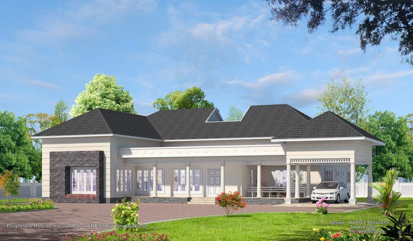 House designs single floor 4 bedroom kerala plan home design and - Kerala Home Design House Plans Indian Budget Models